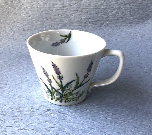マグカップ ラベンダー(小ぶり)小花添えの画像1枚目