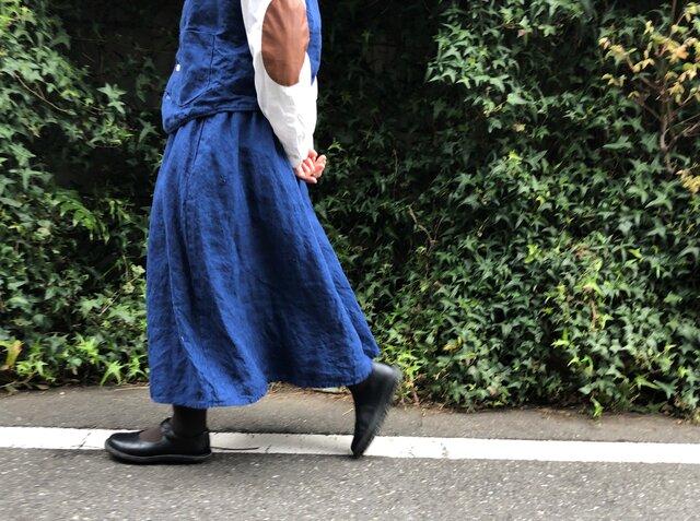 インディゴ リネン スカート ... No.03の画像1枚目