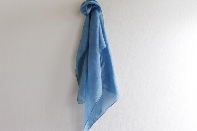 大人色 <縹 藍乾燥葉染め>silkスカーフの画像1枚目