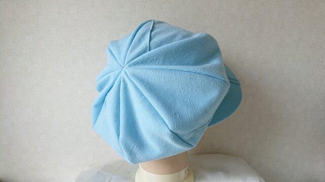 魅せる帽子☆SALE!!ふんわり♪リバーシブルキャスケット~ブルーの画像1枚目