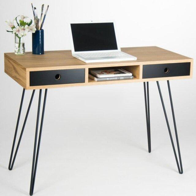 受注生産 職人手づくり デスク 作業台 アイアンデスク おしゃれ 男前家具 テーブル パソコンデスク サイズオーダー可の画像1枚目