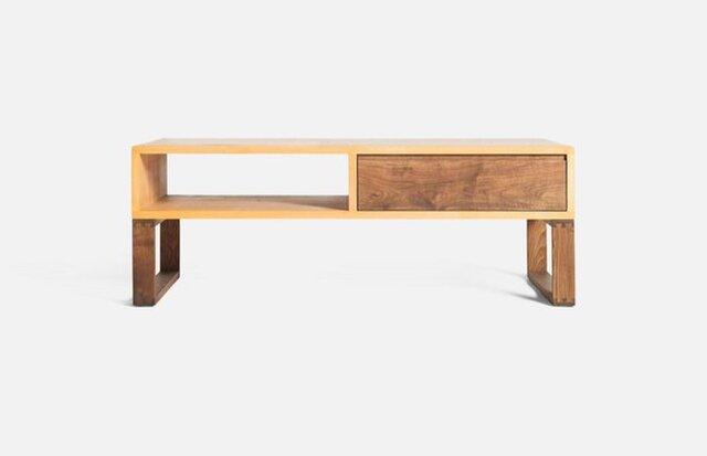 受注生産 職人手作り ローボード テレビ台 ソファーテーブル 収納 サイズオーダー可 家具 コーヒーテーブル 天然木の画像1枚目