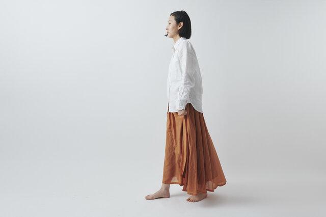 【SALE】enrica cottonsilk skirt TERACOTTA / botanical dyeの画像1枚目
