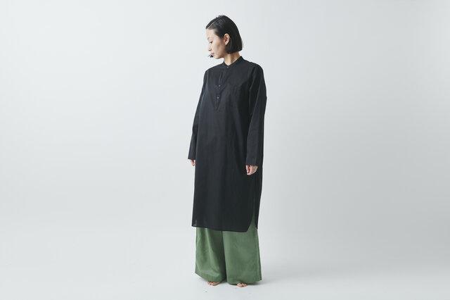 HANDROOM WOMEN'S クルタシャツ(ブラック)【Mサイズ】の画像1枚目