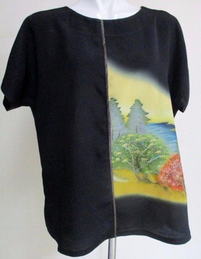 送料無料 色留袖で作ったプルーオーバー 4226の画像1枚目