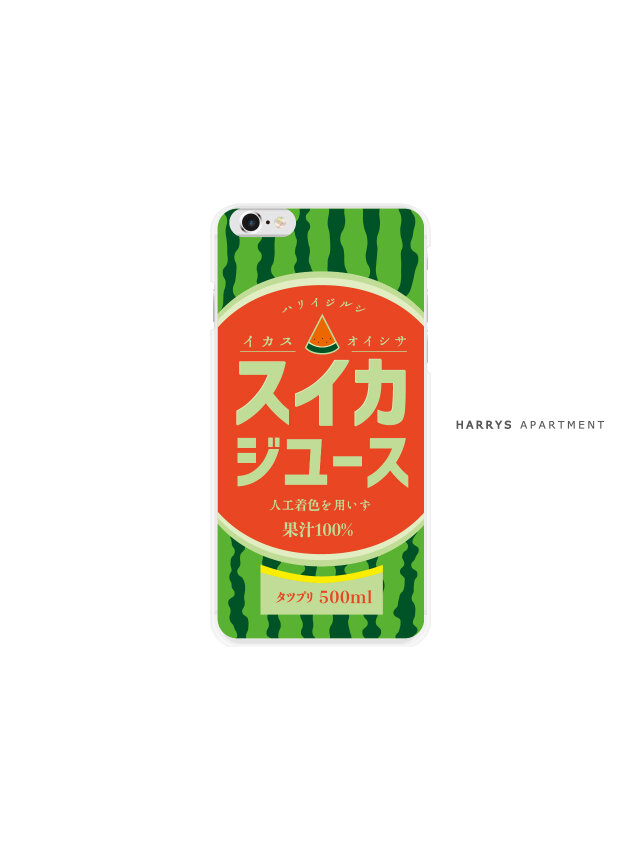 iphoneXR ケース すいか ジュース スマホケースの画像1枚目