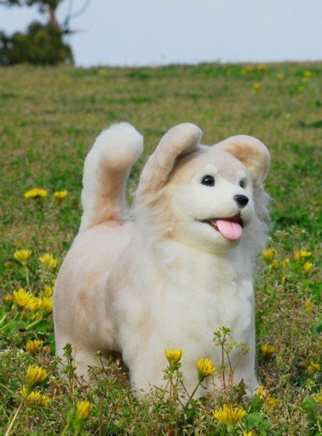 リアルタイプ羊毛DOG 子犬の画像1枚目