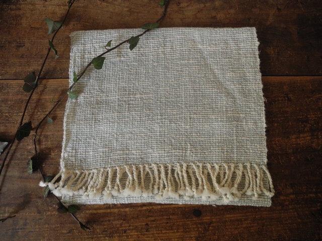 手織りフェイスタオル 『淡青』の画像1枚目