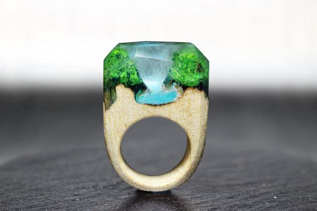 【送料無料】Forest River ~Resin Wood Ring~の画像1枚目