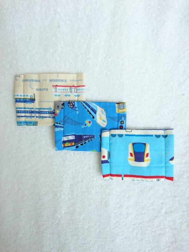 Wガーゼのマスク3枚セット  新幹線の画像1枚目