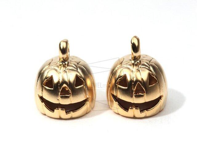 PDT-077-MG【4個入り】パンプキンペンダント,Pumpkin Brass Pendantの画像1枚目