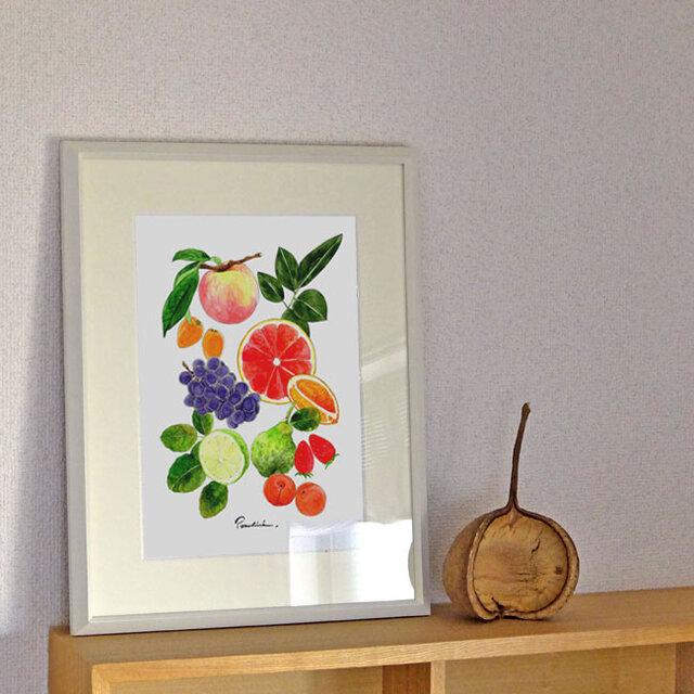 A4ポスター Fruitsの画像1枚目