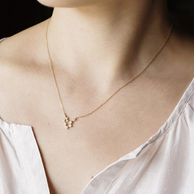 Stardust  9 stones necklace [P056K10YG]の画像1枚目
