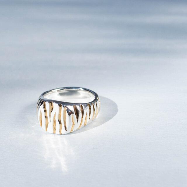 SV925 Tiger Pattern Ringの画像1枚目