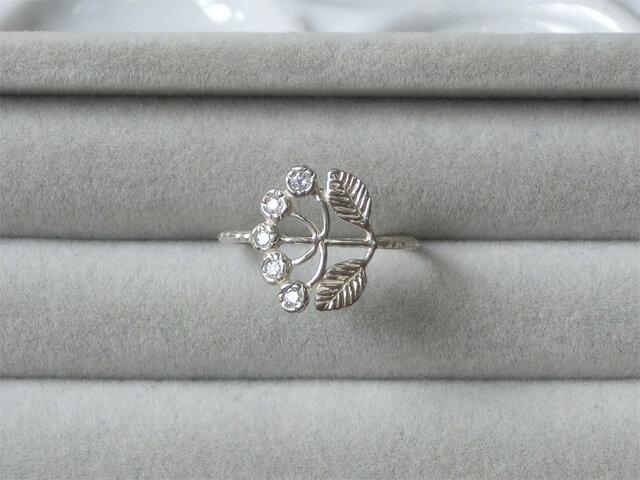 野花のリング [ダイヤモンド]の画像1枚目