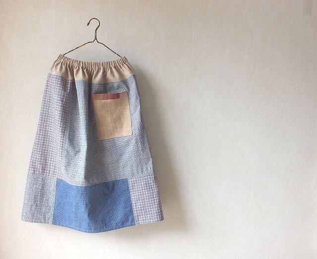 江南の色~上海木綿のいろいろスカートの画像1枚目
