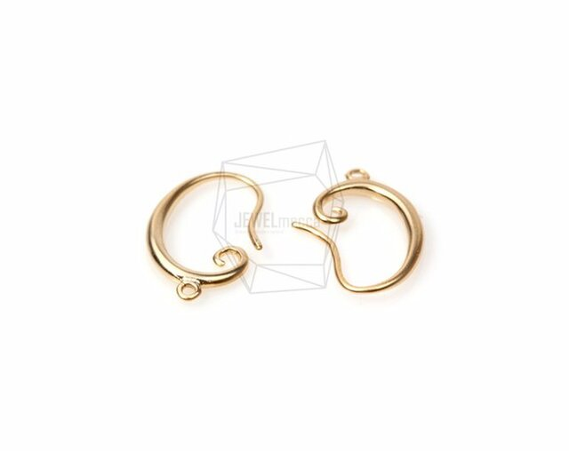 ERG-101-MG【4個入り】シンプルピアスフック,Simple Line Hook Ear Wiresの画像1枚目