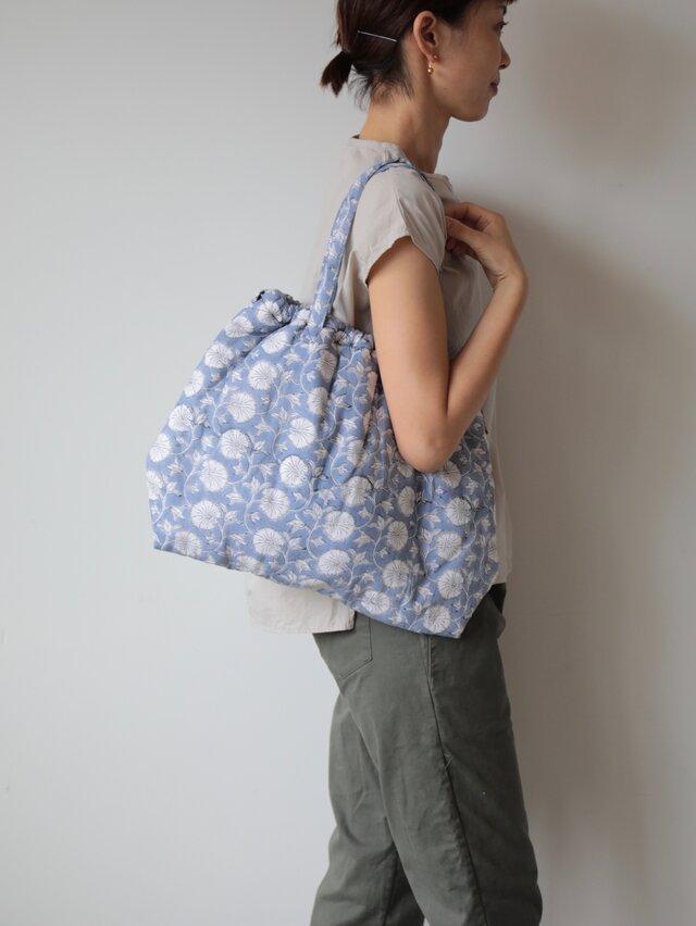 Hand block print bag / no2の画像1枚目