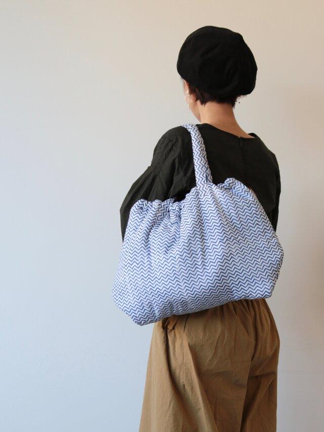 Hand block print bag / no5の画像1枚目