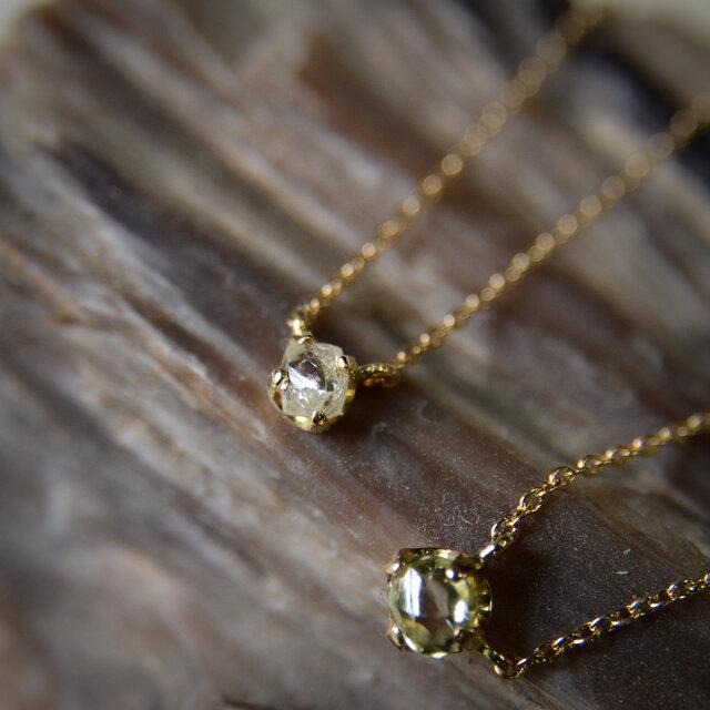 ラフ ダイヤモンド(0.20ct)のプチペンダントネックレスの画像1枚目