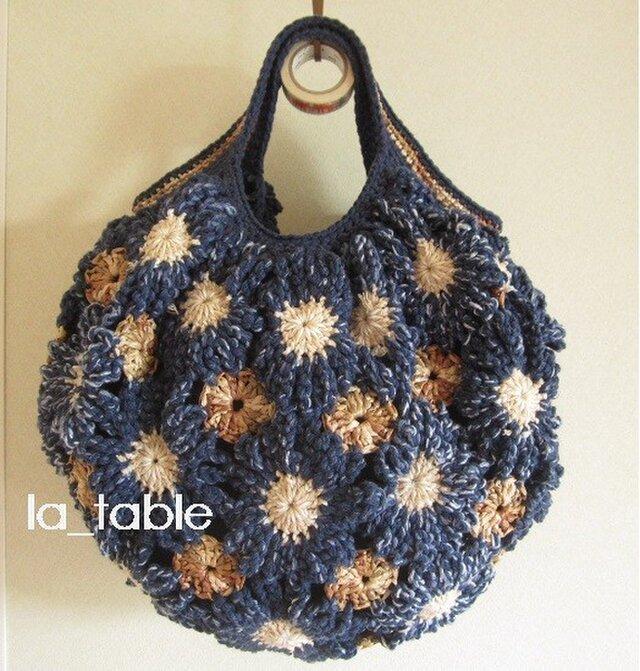 花たくさんのバッグ「JAPAN BLUE」の画像1枚目
