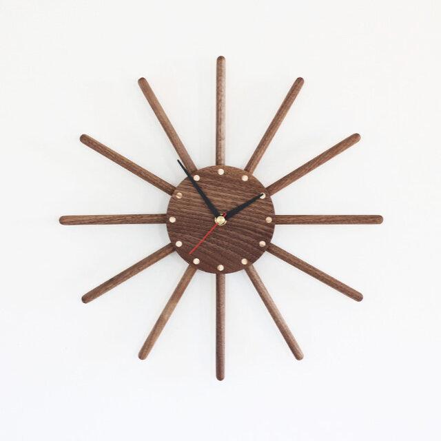 ブラックウォールナット  掛け時計の画像1枚目