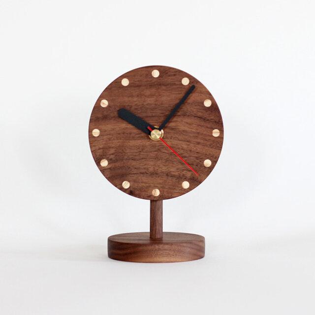 ブラックウォールナット  置時計の画像1枚目