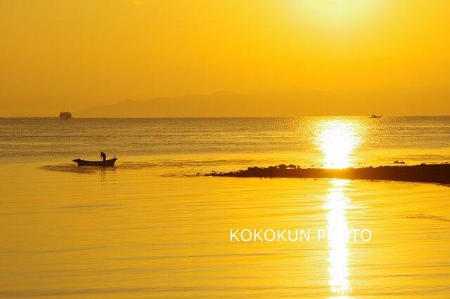 有明海の朝の風景7「ポストカード5枚セット」の画像1枚目