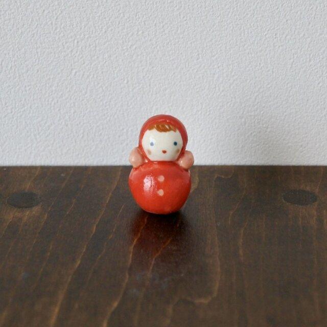 おきあがりこぼしのフェーブ(赤)の画像1枚目