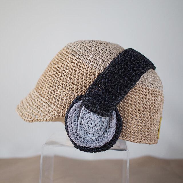 音楽好きトドラー・キッズに♡ ヘッドホン麦わら帽子の画像1枚目