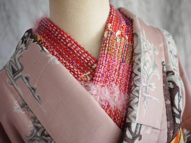 手織り きもの半襟の画像1枚目