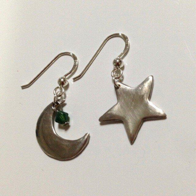 月と星,ピアスの画像1枚目