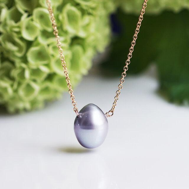 シルバードロップ淡水真珠のネックレス ~Raymondeの画像1枚目
