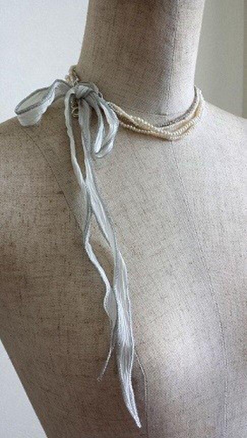 淡水pearlの4連ネックレスの画像1枚目