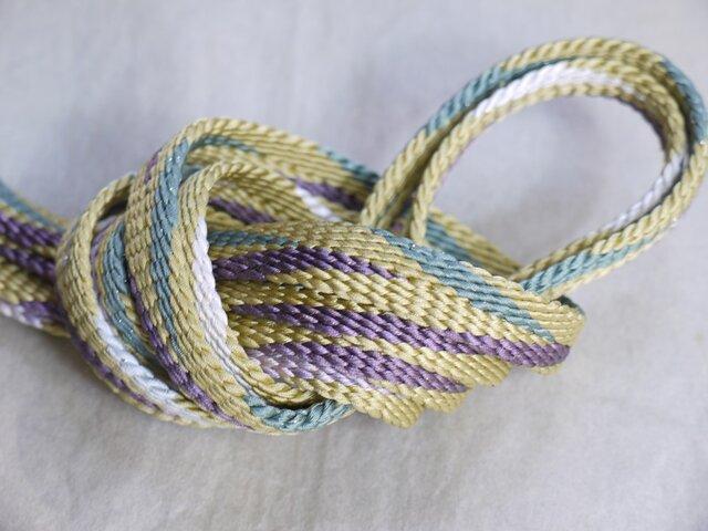 手組み正絹組紐【笹浪(4色)】137A018030の画像1枚目