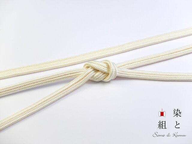 帯締めゆるぎ組(淡黄蘗)正絹の画像1枚目