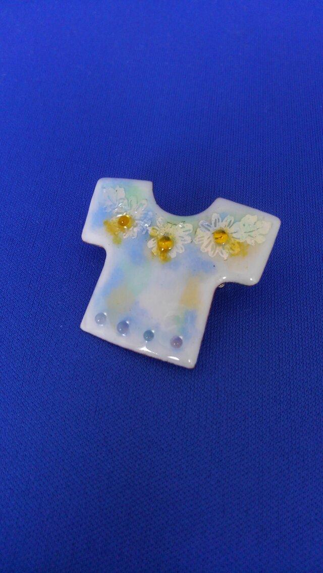 Tシャツブローチ 小花の画像1枚目