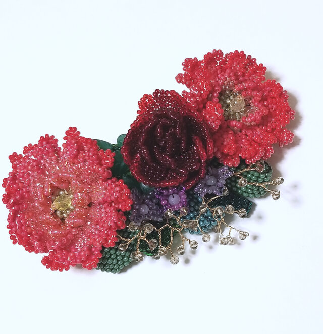 バレッタ Bouquet  (レッドガーベラ)の画像1枚目