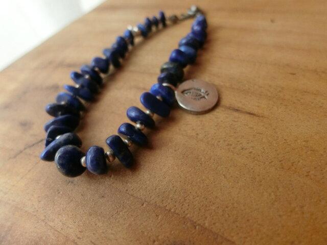 *happy price sazareのカタチ*ブレス@lapis lazuli×カレンシルバーの画像1枚目