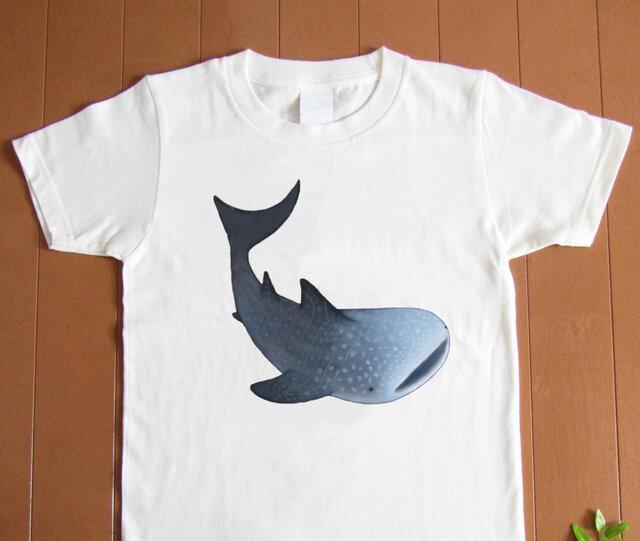 受注プリント全3色☆Tシャツ「ジンベエザメ」オリジナルデザイン☆大人から子供まで全てのサイズ対応の画像1枚目