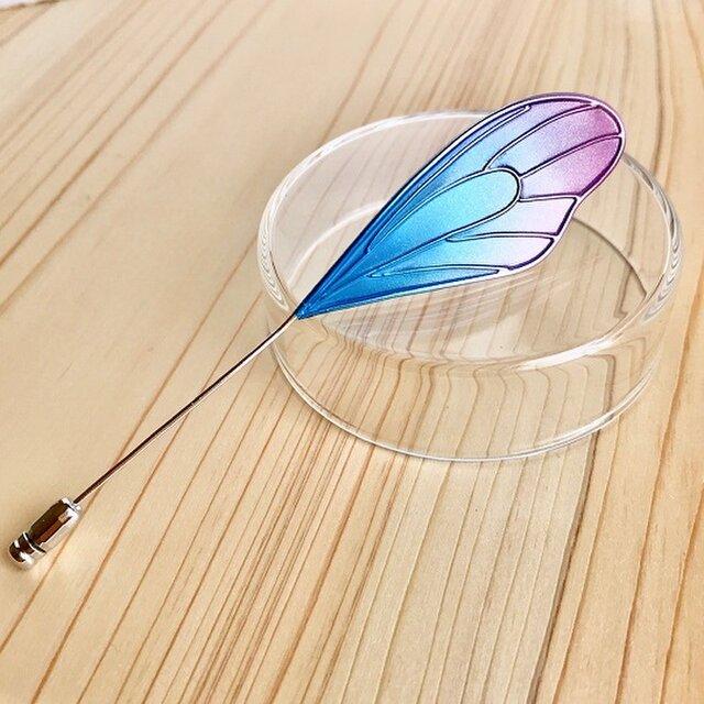 蝶の片羽ハットピンの画像1枚目