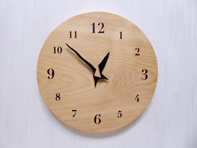 ヒノキの時計 30センチ 118s 文字盤茶色の画像1枚目