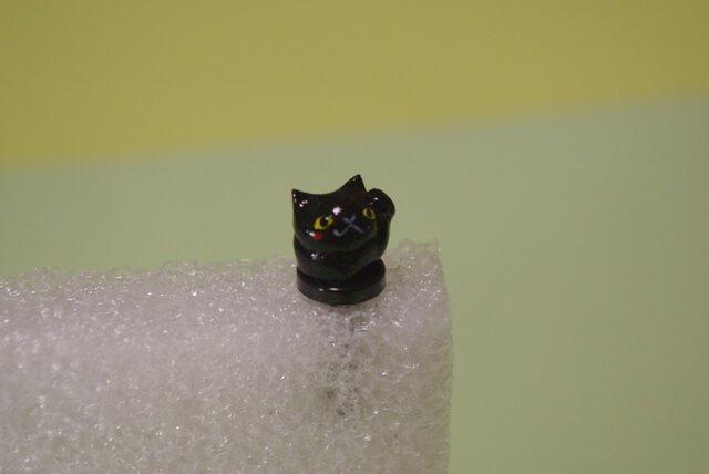 まねきねこイヤホンジャック☆黒ネコの画像1枚目