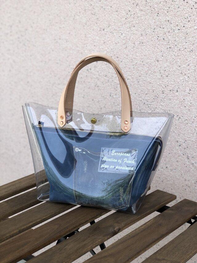 期間限定 PVCバッグ アルバートンポーチ付き ブルーの画像1枚目