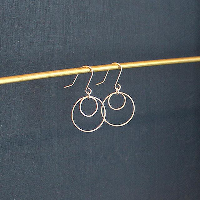 槌目棒円形二重吊下式耳飾 rpc-70の画像1枚目