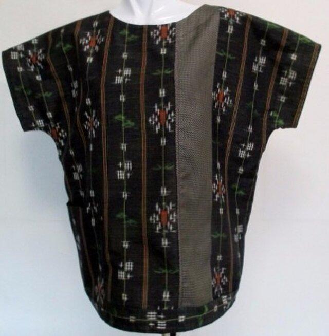 4302 #送料無料 紬で作ったTシャツ の画像1枚目