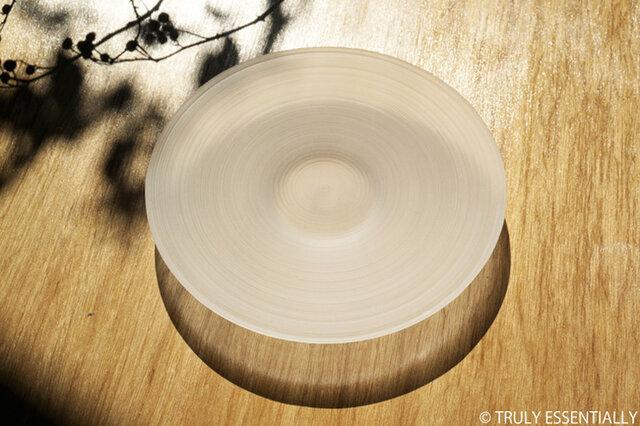 無色透明ガラスの器 -「 The Vessel of Light - 月明かりの器 」● 直径18cmの画像1枚目
