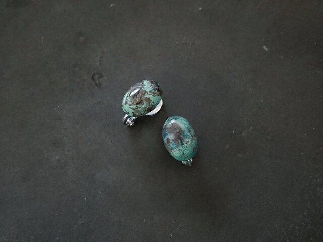 「クリソコラ」ソフトタッチイヤリングの画像1枚目