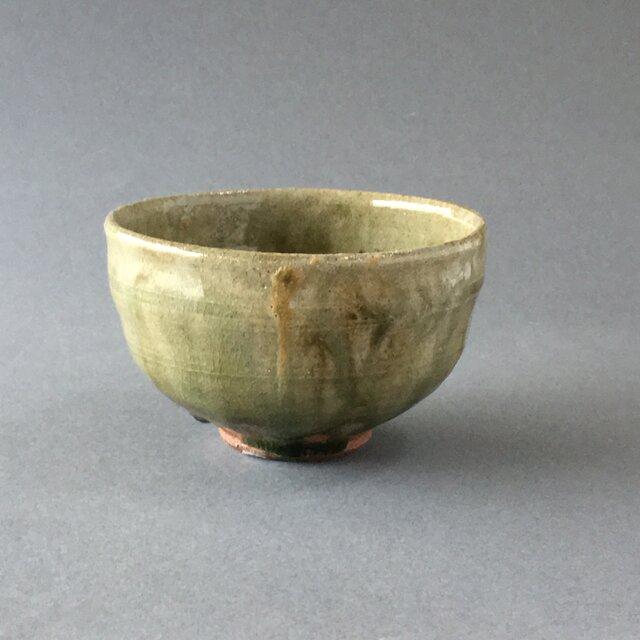 ビードロ灰釉茶碗の画像1枚目