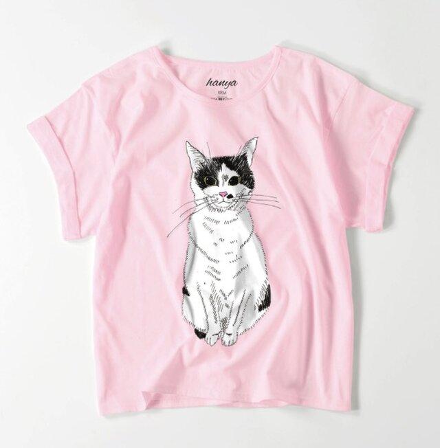 みーこ おすわり オーバーサイズtシャツ 猫 イラスト ゆったり ゆるかわ